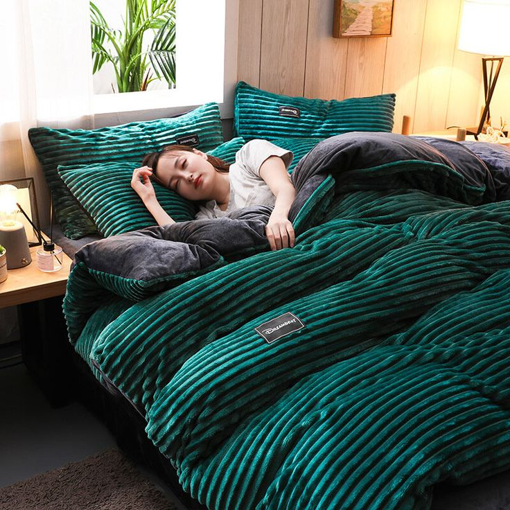 3/4 Pcs AB Sided Thicken Corduroy Velvet Winter Bedding