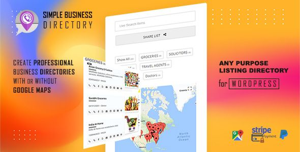 Simple Business Directory With Maps Store Locator Distance Search Stylelib Wordpress Plugins Directory Listing Staff Directory