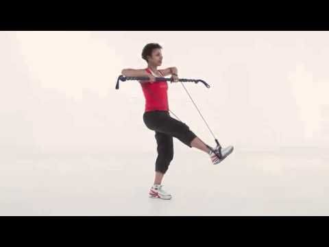 Gymstick Australia Balance and leg extension with upright row and lunge