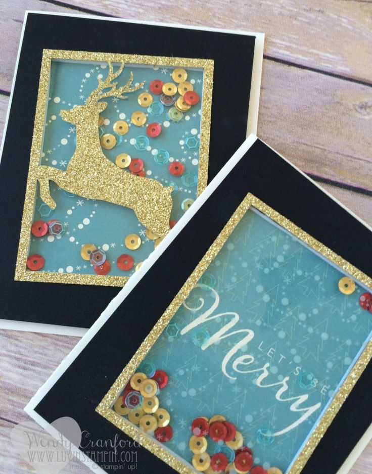 Project Life by Stampin' UP! Hello December Inspired shaker card. #christmascard