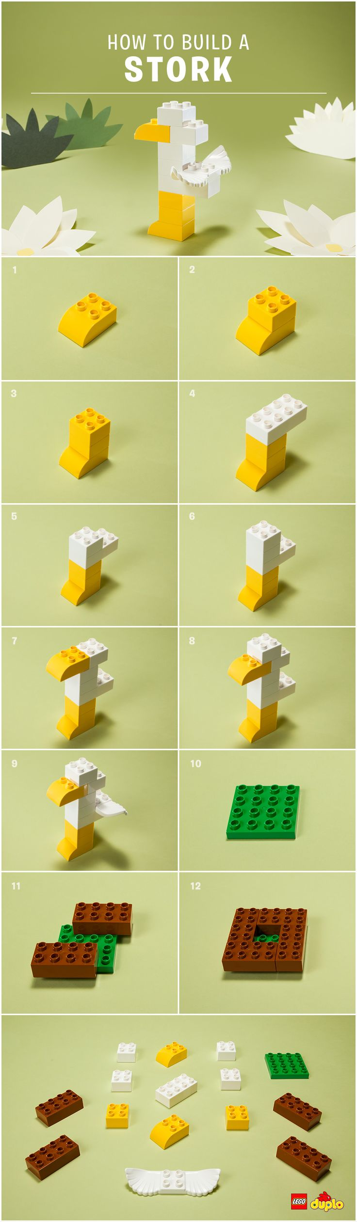 Look out for mr stork and find out how to build your own lego duplo