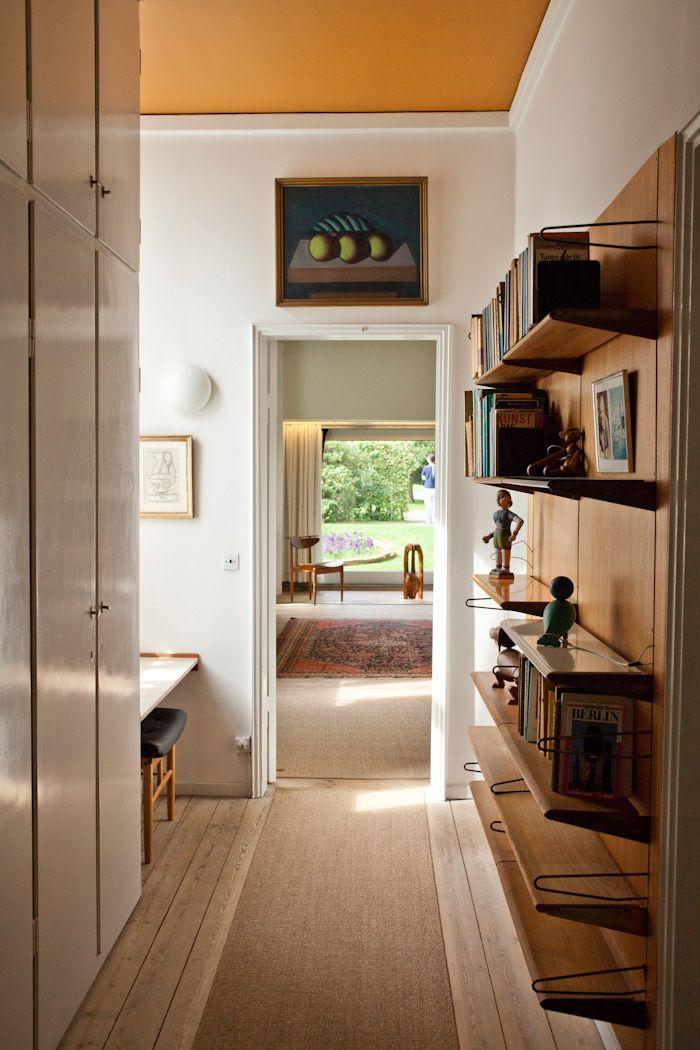 Designer Finn Juhl's House - mustard yellow ceiling