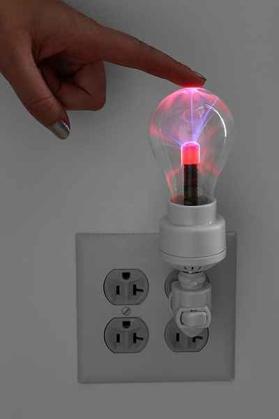 Would be cool reimagined with chrome hardware and an edison bulb. Plasma Nightlight - Urban Outfitters $24.