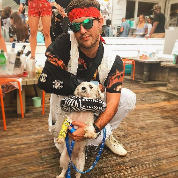 Who Wore the Cast Best: Andrew Warren @adwarren or Rescue Dog Maxine #surflodgedogs Side note: major props to Saving the Swan Float and rescuing those in need . . . . . #Surflodge #montauk #hamptons #hamptonsdog #beachdog #beachlife #dogchic #hoteldog #beachdog #rescuedog #rescuedontbuy #nyscr