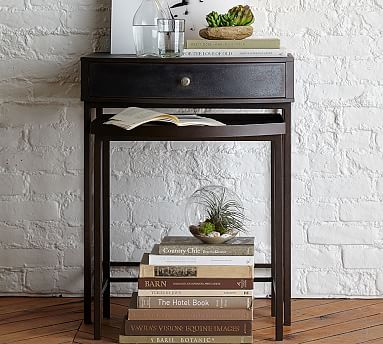 Woodrow Metal Nesting Bedside Tables, Set of 2 #potterybarn