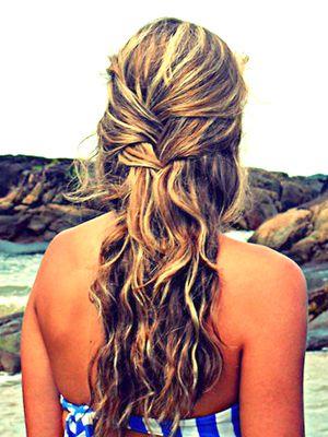 wavy beach hair: Beaches, Beach Waves, Hairstyles, Hair Styles, Makeup, Beach Hair, Hair Color
