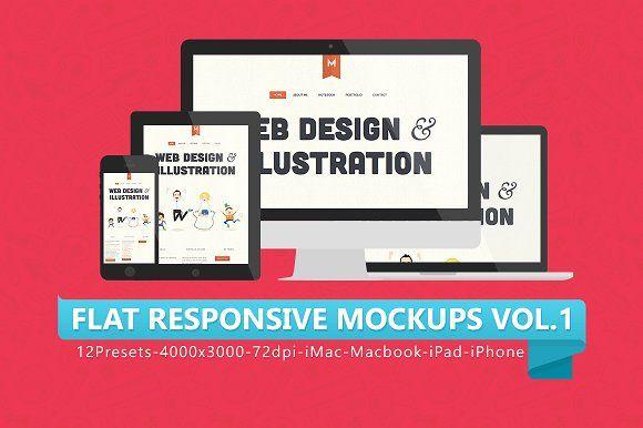 Download 12 Flat Responsive Mockups Free Packaging Mockup Free Psd Mockups Templates Design Mockup Free PSD Mockup Templates