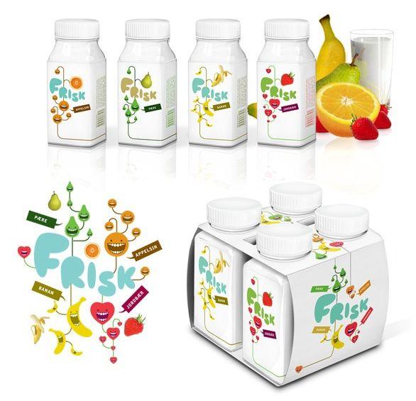 Jeksel Frisk Yogurt packaging - Designed by ©Mats Ottdal