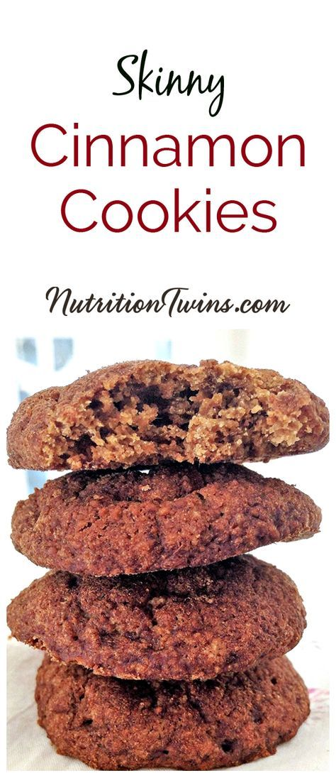 Skinny Cinnamon Cookies | Only 85 Calories |Guilt-free & delicious | Healthy Dessert made with Oat Flour and & Coconut Palm Sugar | For MORE RECIPES, fitness & nutrition tips please SIGN UP for our FREE NEWSLETTER www.NutritionTwins.com