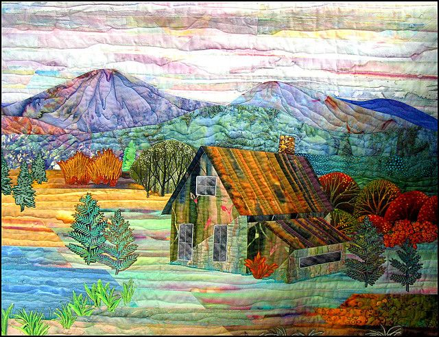 """Autumn at the Cabin"" - Denver National Quilt S… 