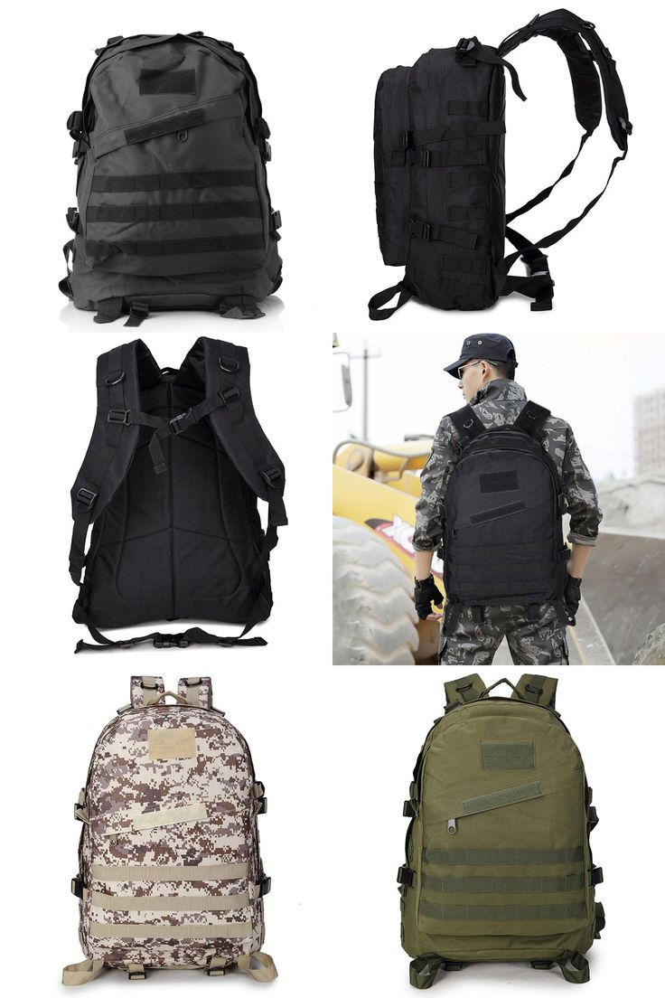 [Visit to Buy] Outdoor Camping Hiking Hunting Camouflage Army Bag Mochila Militar Tactica Military Rucksack Molle Tactical Backpack #Advertisement