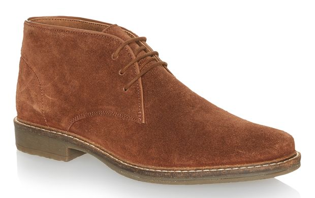 """Tan Suede Boots. """"Strike the balance between smart and casual in these soft tan boots. This pair looks great teamed with chinos."""""""