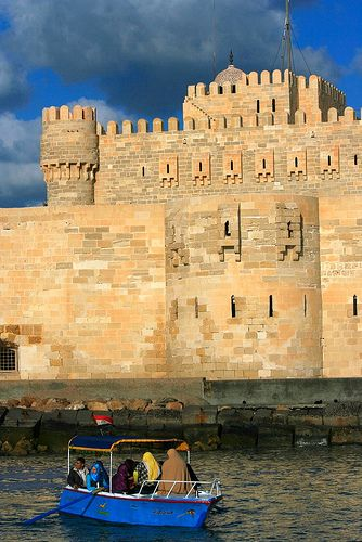The Citadel or Fort of Qaitbey in Alexandria, Egypt, was established in 1477 AD (882 AH) by Sultan Al-Ashraf Sayf al-Din Qa'it Bay.