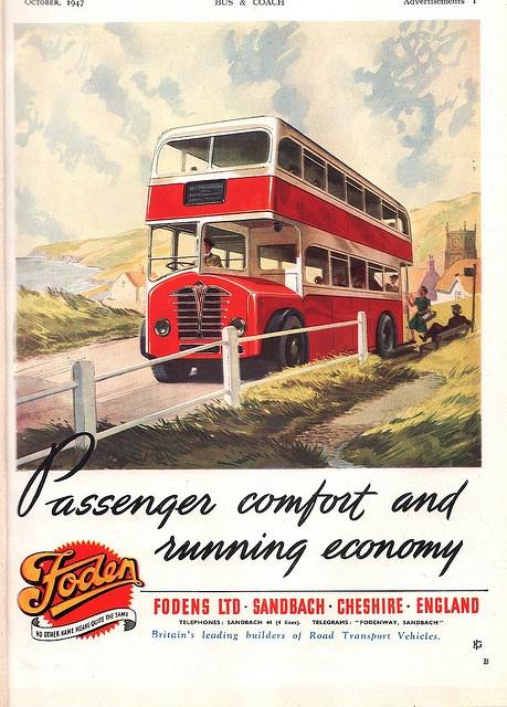 1947 Foden bus advert