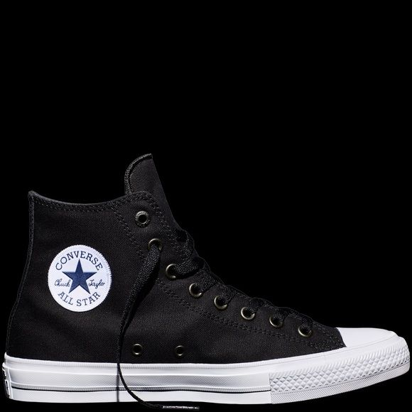 Black and white Converse Chuck Taylor II Only worn twice comes with black and white laces! Shoes Sneakers