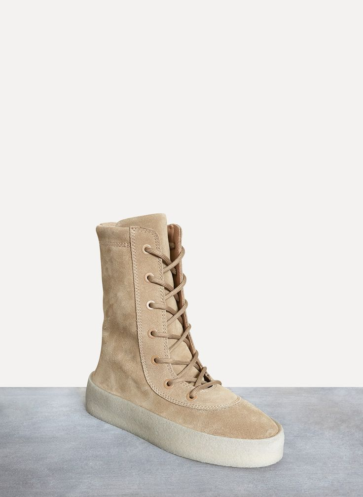 Yeezy by Kanye West Season 4 Thick Suede Crepe Boot Taupe