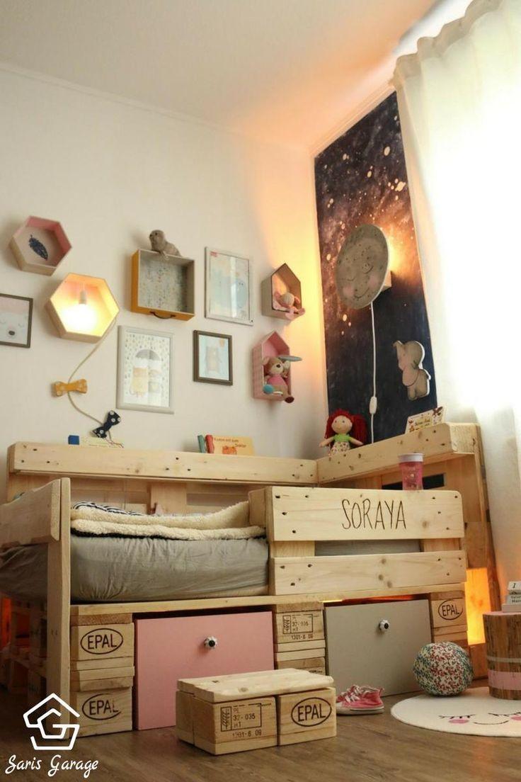 Kinderbett aus Europaletten – Palettenmöbel DIY von Saris Garage