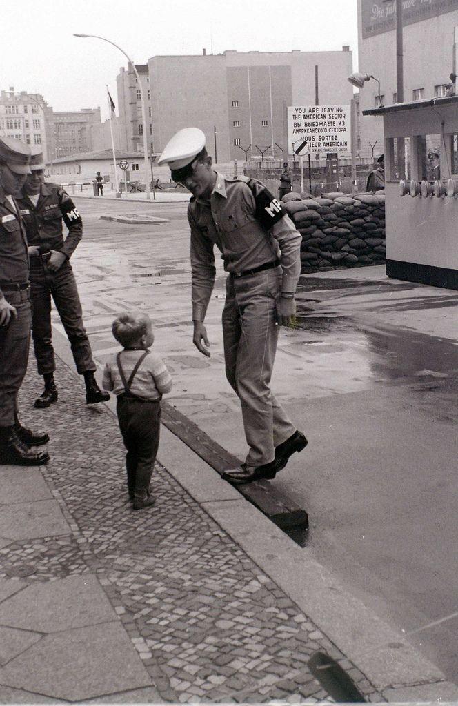 Friedrichstrasse at Checkpoint Charlie, Berlin, 28 August 1962