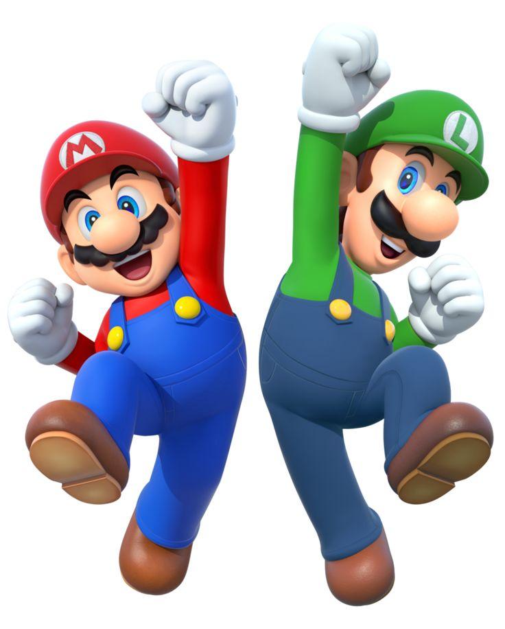 Mario and Luigi 2015 render by Banjo2015.deviantart.com on @DeviantArt