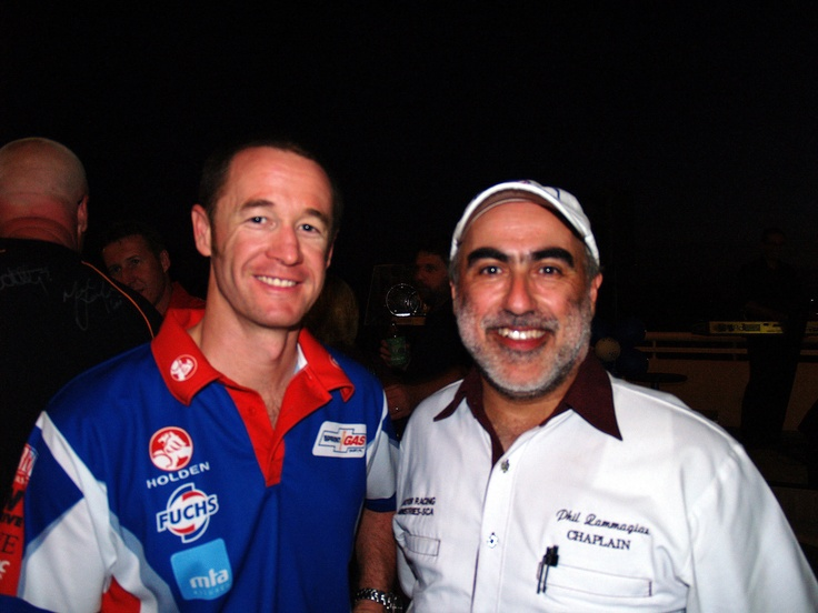 Me with Greg Murphy; #51 and a helicopter pilot!