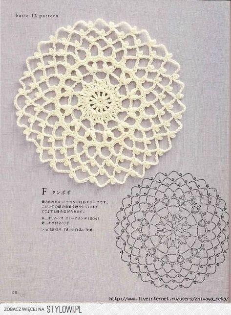 Polly Crochet Doily With Chart Crochet Pinterest Crochet