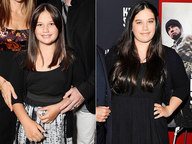 Then & Now: Celeb Kids All Grown Up! | ELLA BLEU TRAVOLTA | Then: Even at 9 years old, John Travolta and Kelly Preston's only daughter seemed more than ready to glam up for a September 2009 Walt Disney Pictures event.  Now: Nearly three years later, she's clearly played enough dress-up to develop her own personal (and tastefully edgy!) style, which stole the spotlight from Dad at a June N.Y.C. screening of his film Killing Season.