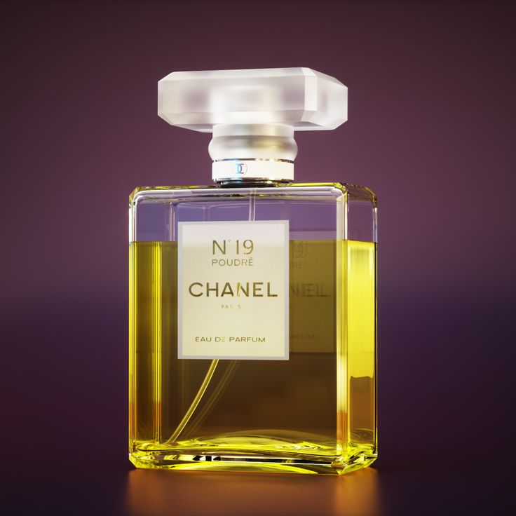 Perfume Product Shot Render, R&D materials, lights and mood. The render work is based on a Coco Chanel No.19 Bottle.