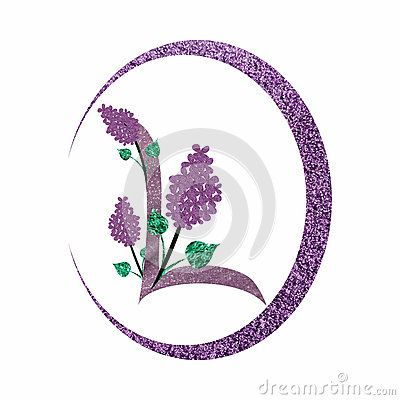 Sparkling #L #letter #logo with #lilac #flowers within a #purple circular shape