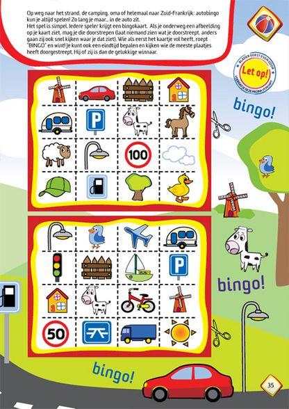 Autobingo! Leuk! Uitprinten op zappelin.nl en plastificeren. Zo heb je een leuk en goedkoop spel voor de lange autoreis.