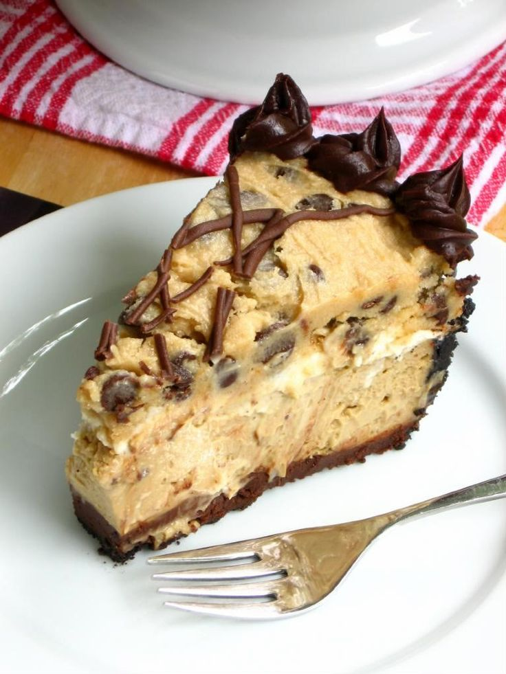 Coffee Cookie Dough Fudge Cheesecake