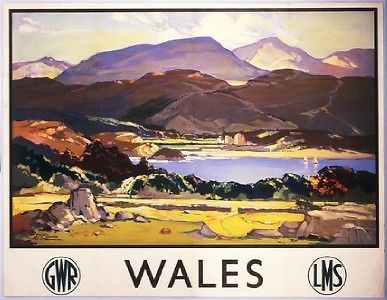 Welsh Railway Travel Art Poster Print, Wales by LMS GWR