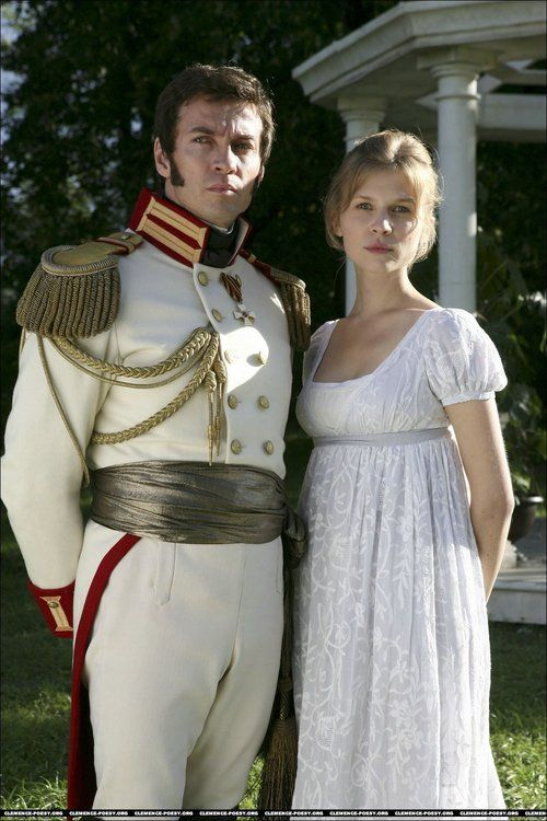 Alessio Boni as Prince Andrej Bolkonsky and Clémence Poésy as Natasha Rostova in War and Peace (TV Mini-Series, 2007).