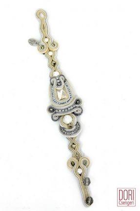 Calista elegant Art Deco style bridal bracelet by DoriCsengeri. #DoriCsengeri…