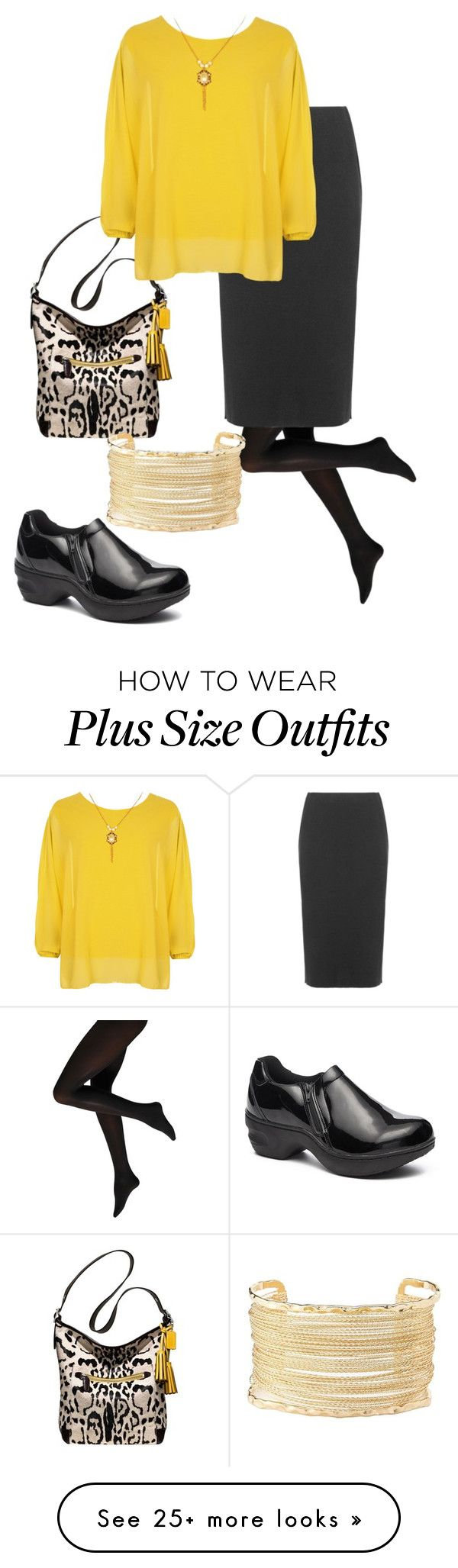 """""""plus size nolan"""" by aleger-1 on Polyvore featuring Coach, Isolde Roth, Charlotte Russe and WearAll"""