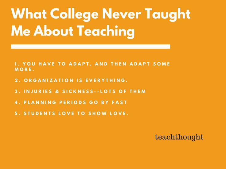 5 Things College Never Taught Me About Teaching. A new teacher shares in this blog post.