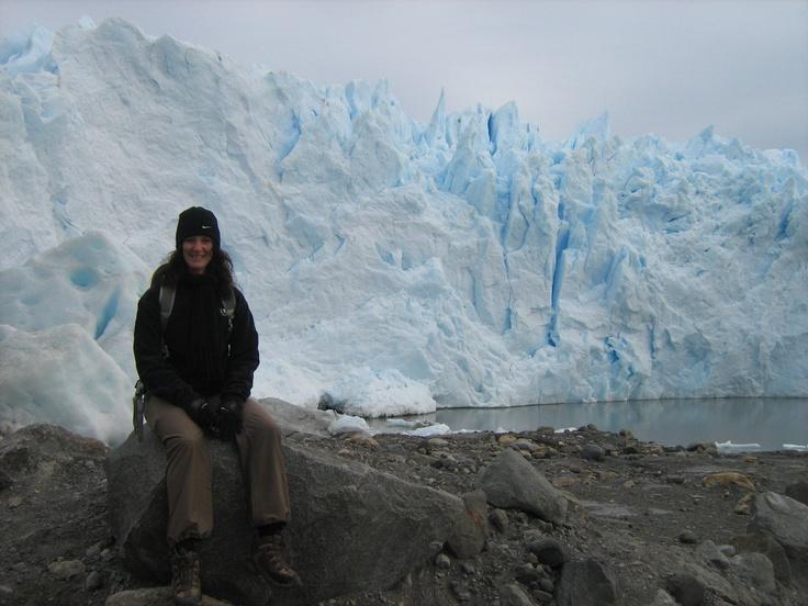 Hanging out by the Perito Moreno Glacier in El Calafate, Argentina.