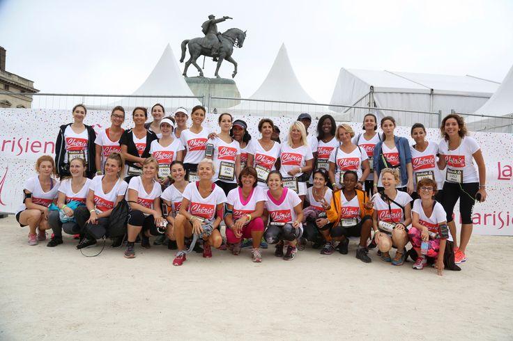 La team Fitnext/Chérie FM lors de la Parisienne #parisienne #running #run #sport #team #cheriefm #radio