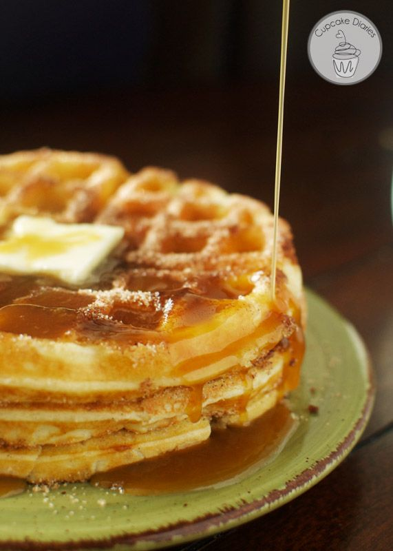 Churro Waffles - All the goodness of that county fair treat in a deliciously fluffy waffle. These are so yummy!