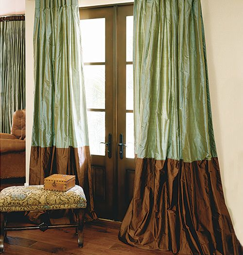 Hand Made Custom Bordered Silk Drapes and Roman Blinds on Sale   DrapeStyle   800-760-8257