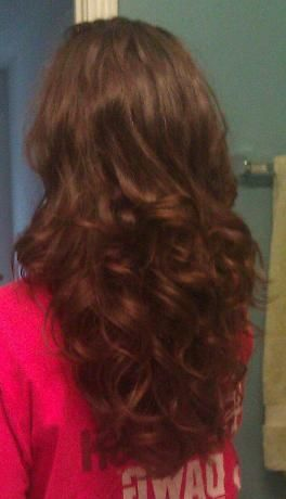 Results of two sock buns slept in overnight    Omg, I'm trying this asap, my hair holds any wet curls that I put in it.