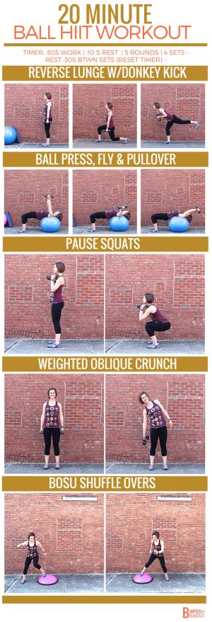 Ready to try this 20 Minute Stability & Bosu Ball HIIT Circuit? Two great pieces of equipment deliver a solid workout with strength and cardio moves! The best of both world's.