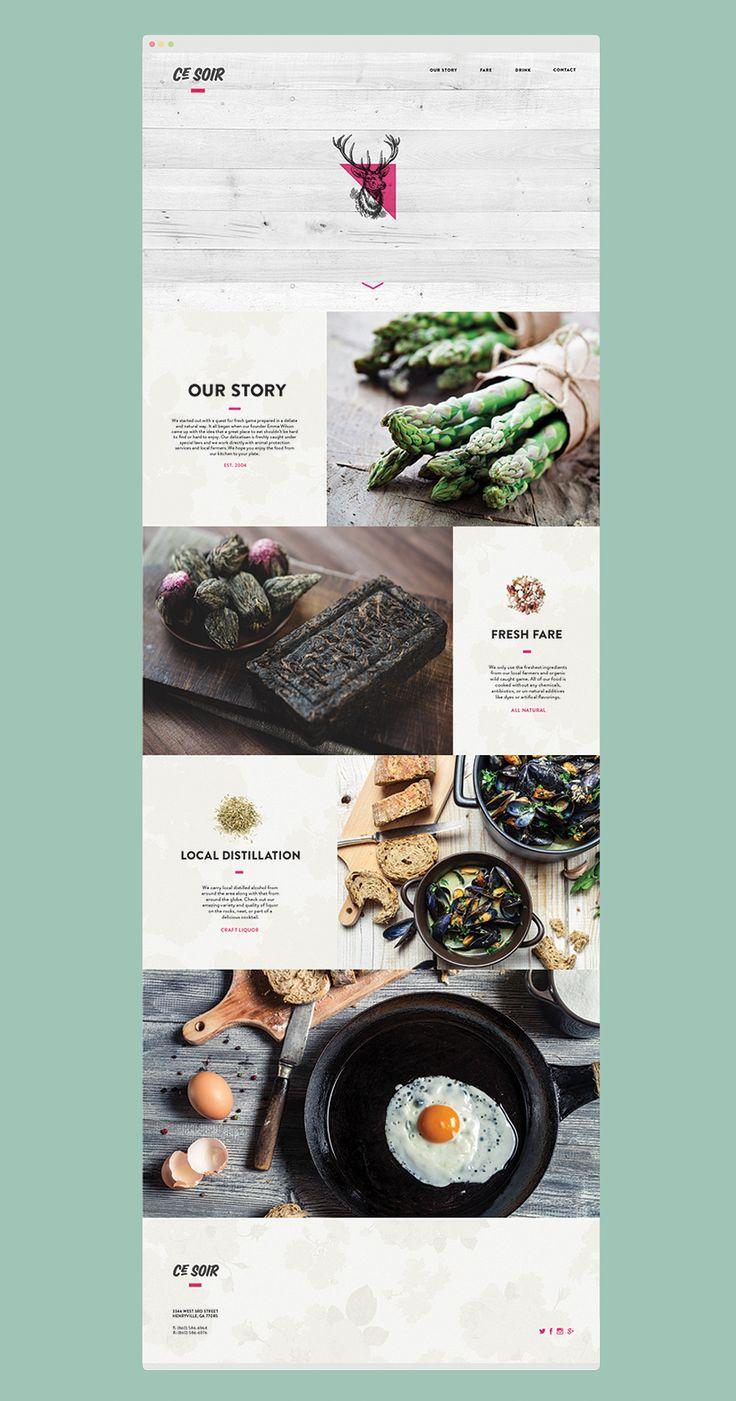 Ce Soir Restaurant Website Design Inspiration on Behance