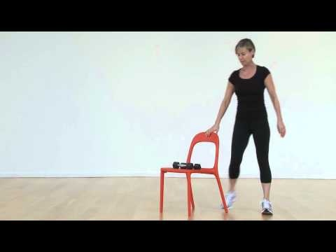 The lunge is a great exercise for the lower body and is used a lot in toning and sculpting classes.