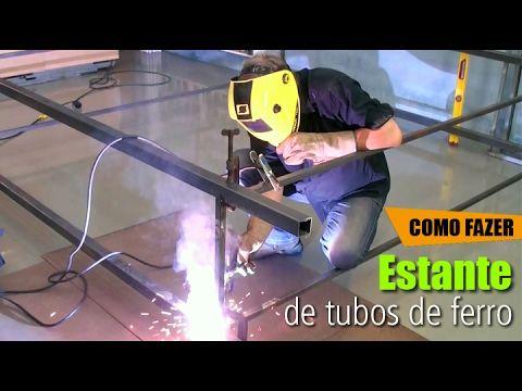 Liked on YouTube: Estante de tubos de Ferro