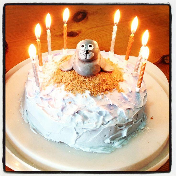 seal birthday cake lion party 7th birthday birthday cakes birthday ...