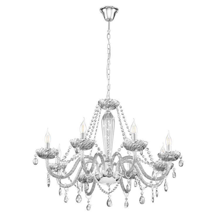 Eglo Basilano 1 Clear Crystal Chandelier 6 Light Pendant
