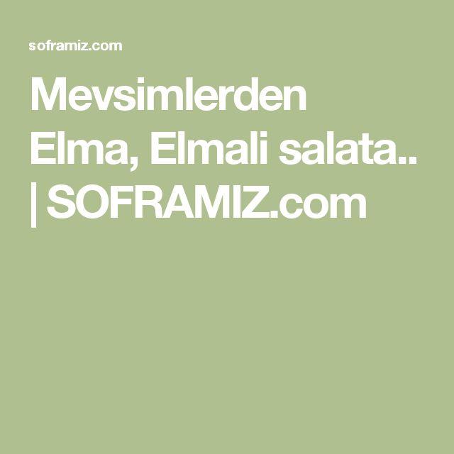 Mevsimlerden Elma, Elmali salata.. | SOFRAMIZ.com