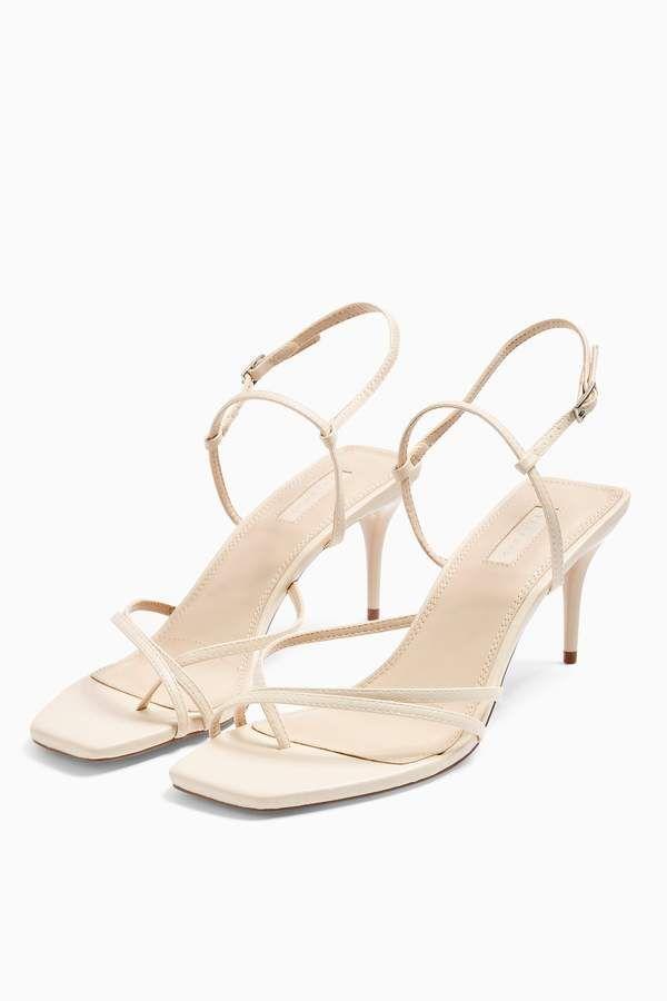 Strappy Cream Heels