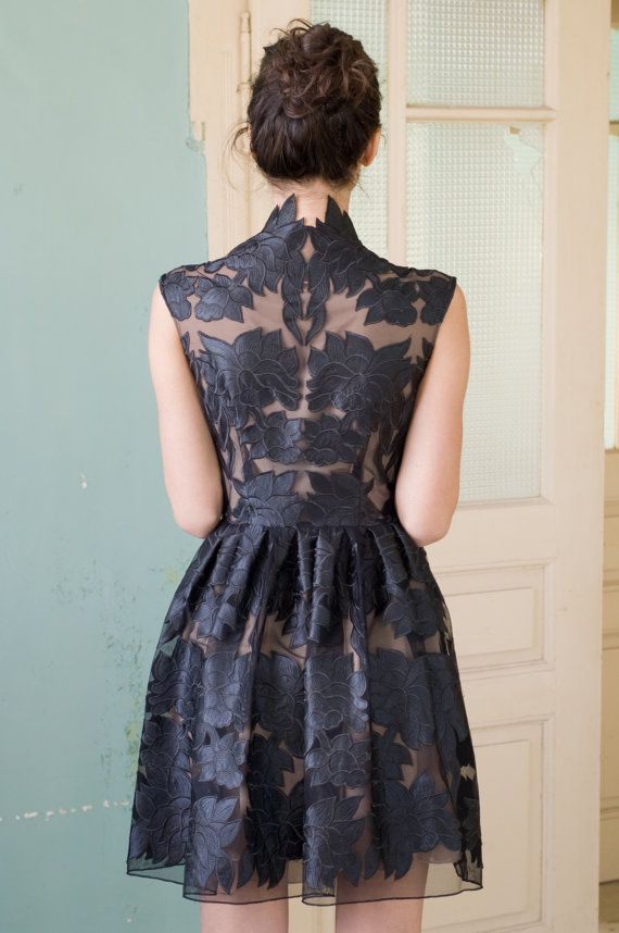 Mini little black lace dress on Etsy, Sold bridesmaid dress