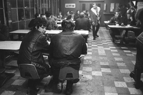 ace cafe, london, c.1960 - by john 'hoppy' hopkins